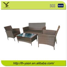 Promotional Steel Outdoor garden 4pc wicker / rattan conversation sofa set,KD