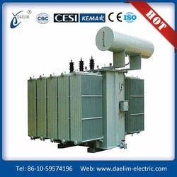 Forced oil water-cooled series rectifier transformer