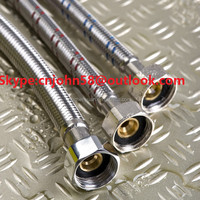 stainless steel wire flexible braided hose for toilet faucet and water heater