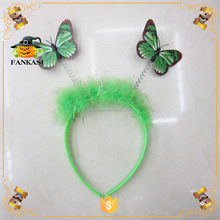 Green Butterfly Headband For Party
