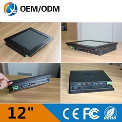 LOW COST 12'' embeded ip65 panel mount touch screen panel pc/industrial computer