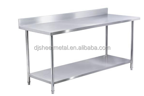 Amazing Work Table With Backsplash And Under Shelf Buy Stainless Steel Table.  Sauber ...