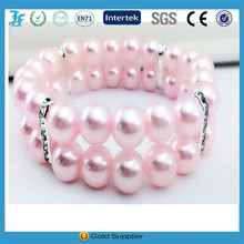 L.F 2 Rows dog pearls necklace collar charm,pet puppy jewelry