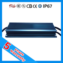 5 years warranty waterproof IP67 dimmable 12V LED driver 150W