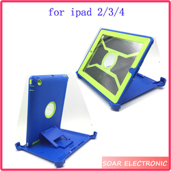 High quality For Ipad 2 case,portable rotation shockproof hybird case for Apple for ipad 2