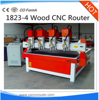 2015 multi spindles cnc router carpentry machine tools 1823-4 wood engraving and cutting machine woodworking cnc router machine