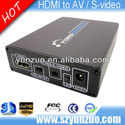 HDMI/S-video /RCA Composite to HDMI 720P/1080P AV Video Converter+Au Powersupply