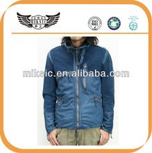 HIGH QUALITY BELTED SHEEPSKIN MOTORCYCLE JACKET FOR MAN