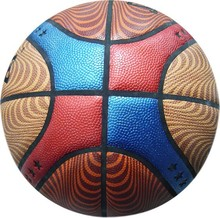 Laminated 1.6mm PU outdoor basketball