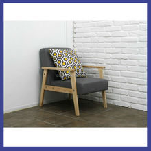 hot sale modern wood frame single seater sofa chair for home/lounge