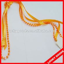 Hot sale plastic long necklace 2012