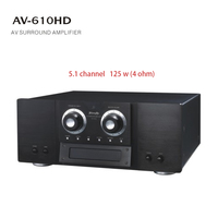 Home theater 5.1 channel surround sound amplifier kit dj power subwoofer amplifier home amplifier 125w