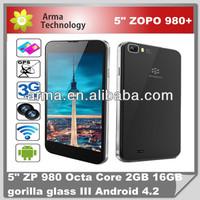 "5"" Zopo ZP980 Smart Phone Quad core MTK6589 5.0'' Capacitive Screen 1920*1080 Android 4.2 13.0MP Camera"