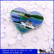 Hot promotional GREECE island sunshine vacation custom heart-shaped fridge magnet