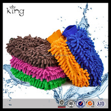 Microfiber Double Sides High-density Coral Car Wash Gloves Mitt Clean Towel