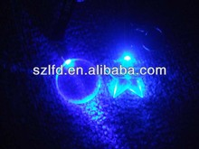 2015promotional gifts led glowing star shape keychan,festival gifts led glow keychain,custom shape led keychain,