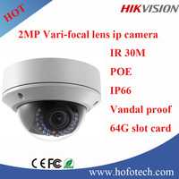 Hikvision 2MP varifocal lens ip dome camera, cctv camera with POE DS-2CD2720F-IS