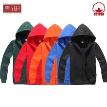 100% cotton Long sleeve fleece jacket for lovers'