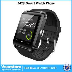 2015 smartwatch cheap smart watch bluetooth phone Sync Mobile phone call records bluetooth smart watch Pedometer M28