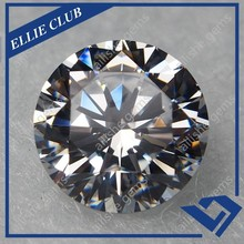 Manufacturer of white clear color round cz cubic zirconia gemstone