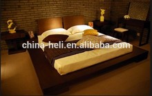 Moderna de madera maciza ultra rey cama