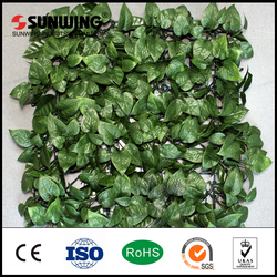 2016 new products 5-8 years warranty artificial faux ivy fences