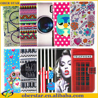New product Printed wallet leather mobile phone case For Samsung Galaxy S4 mini