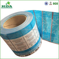 adhesive mineral water bottle printing label