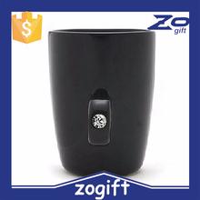 ZOGIFT Wedding anniversary gifts Black color diamond ring handle shape mug cup