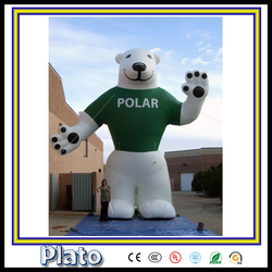 wanderful hot sale outdoor advertising /advertising giant inflatable bear