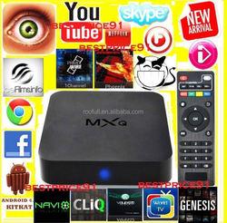 2015 Hot Selling Quad Core 4K Amlogic MXQ S805 Pre-installed KODI MXQ Android TV Box Android 4.4 Cheapest MXQ TV Box