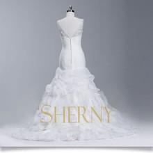 Cheap fashion new fish style wedding dress
