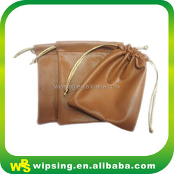 Wholesale Genuine Leather Drawstring Jewelry Bags