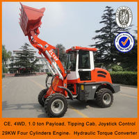 4 wheel drive,Standard bucket,Joystick ,Chinese affordable articulated mini wheel loader for sale