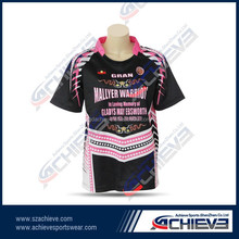 100% polyester made sublimated rugby league shirt