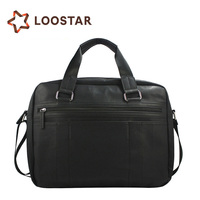 Black Color Leather Men Handbag China Supplier