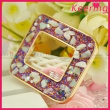 Fashion Metal Colorful Beading snap clip on shoe buckle WSC-363