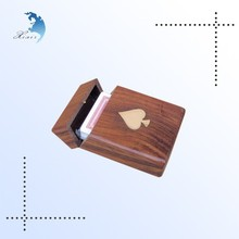Classic design small antique wooden box,cheap wooden poker boxes