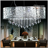 Modern Large Crystal Pendant Light,Crystal Suspension Lamp For Living Room And Dining Room MD 88021