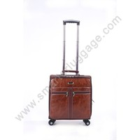 Quality PU Laptop Trolley Luggage Bag for Bussiness