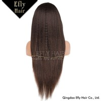 100% Virgin Brazilian Hair Full Lace Wig Kinky Straight Human Hair Full Lace Wig