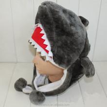 2015 New Children Fur Hat Kids Fur Shark Hat
