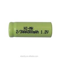 Free shipping 50pcs/lot Rechargeable NI-MH 2/3AAA 1.2V 300mAh battery 1.2v 300mah ni-mh battery for Electric shaver