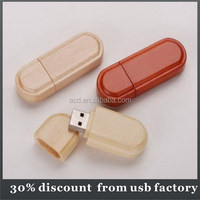 very popular maple material make wooden cross necklace usb flash drive