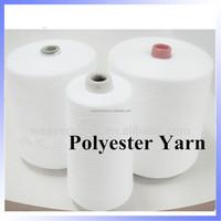 Raw white 100 polyester yarn price