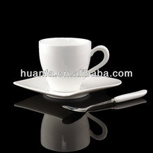 Square porcelain&ceramic coffee mug with saucer promotional gift