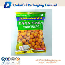 2015 hot sale customized mid sealed bag for 60g roasted peanuts packaging