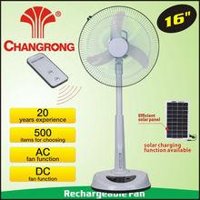 """De emergencia cr-8803b 3 led 16"""" bajo precio del ventilador solar de aire acondicionado en china"""