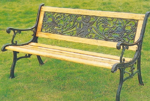 2014 Best Selling Wrought Iron Metal Garden Benches Teak Wooden Garden Benches Outdoor Bench
