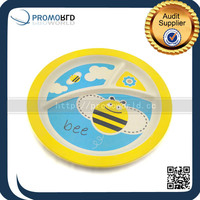 Eco-friendly Biodegradable Bamboo Fiber Dinner Plate Baby Food Tray